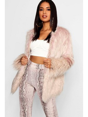 Boohoo Mixed Faux Fur Coat