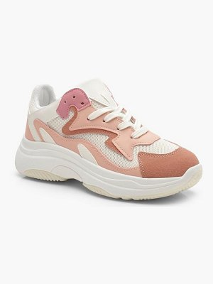Boohoo Mixed Panel Chunky Trainers
