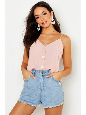 Boohoo Mother Of Pearl Button Cami