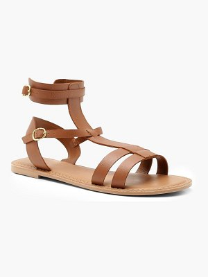 Boohoo Multi Strap Leather Gladiator Sandals
