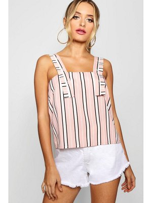 Boohoo Multi Stripe Strappy Top