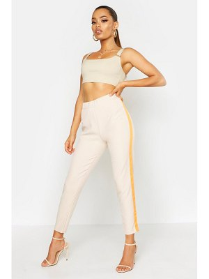 Boohoo Neon Side Stripe Tailored Pants