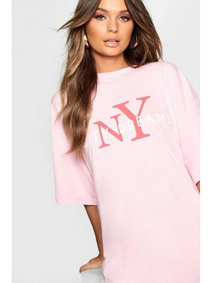 Boohoo NY City Dreams Oversized T Shirt Dress