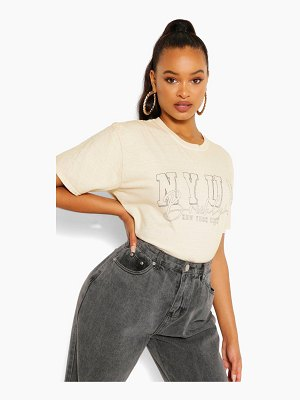Boohoo Nyuv Printed Washed T-Shirt