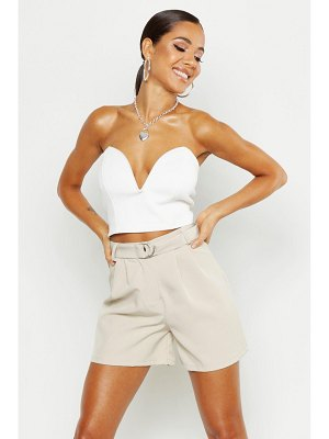 Boohoo O Ring Belted Tailored Short
