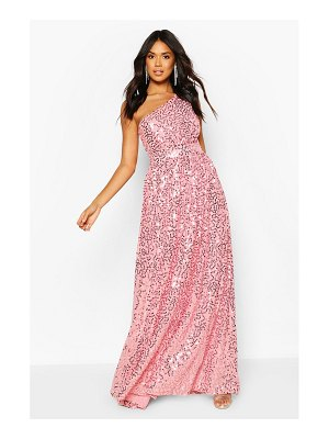 Boohoo Bridesmaid Occasion Shoulder Sequin Maxi Dress