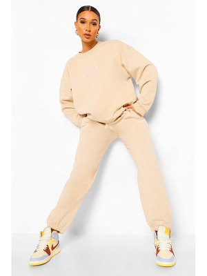 Boohoo Ofcl Studio Embroidered Tracksuit