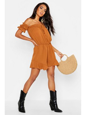 Boohoo Off Shoulder Gypsy Style Romper