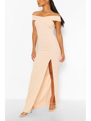 Boohoo Off Shoulder Maxi Dress