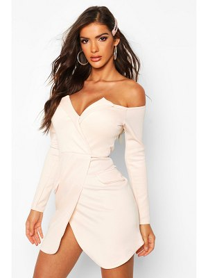 Boohoo Off The Shoulder Blazer Bodycon Dress