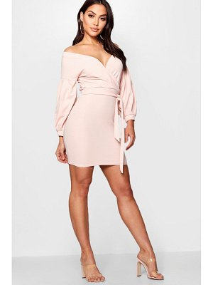 Boohoo Off the Shoulder Bodycon Dress