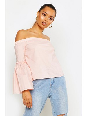 Boohoo Off The Shoulder Flare Sleeve Blouse