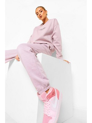 Boohoo Official Embroidered Acid Wash Joggers