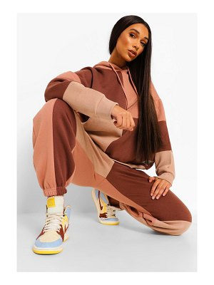 Boohoo Official Product Patchwork Colour Block Tracksuit
