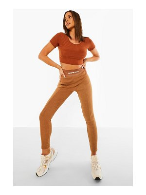 Boohoo Official Thick Ribbed Leggings
