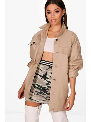 Boohoo Oversized Cotton Twill Jacket