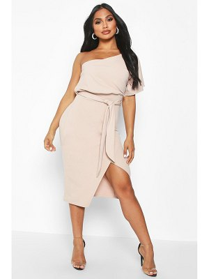 Boohoo One Shoulder Batwing Midi Dress