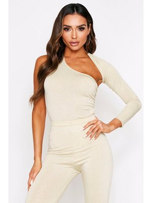 Boohoo One Shoulder Cut Out Thong One Piece