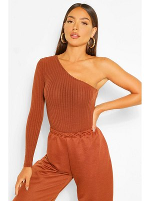 Boohoo One Shoulder Rib Knitted One Piece