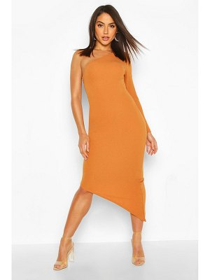 Boohoo One Shoulder Statement Hem Bodycon Dress