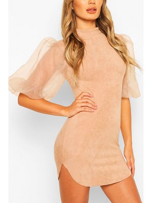 Boohoo Organza Bodycon Mini Dress