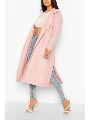 Boohoo Oversized Belted Wool Look Coat