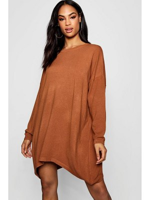 Boohoo Oversized Boyfriend Knitted Dress