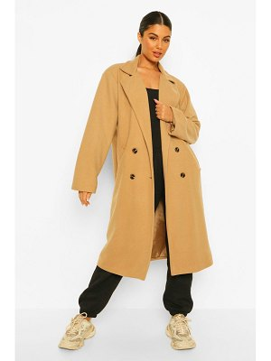 Boohoo Oversized Boyfriend Wool Look Coat