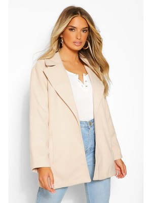 Boohoo Oversized Collared Wool Look Coat