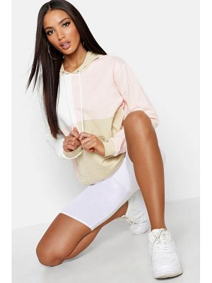 Boohoo Oversized Colour Block Hoody