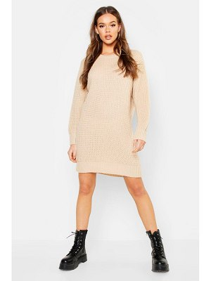 Boohoo Oversized Crew Neck Soft Knit Mini Dress