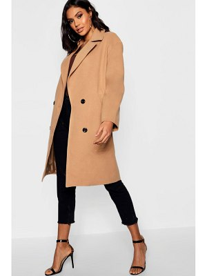 Boohoo Oversized Double Breasted Wool Look Coat