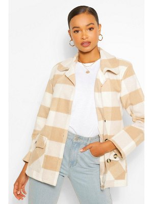 Boohoo Oversized Flannel Coat