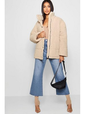 Boohoo Oversized Fleece Puffer Jacket