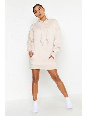 Boohoo Oversized Hooded Pocket Sweat Dress