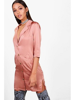 Boohoo Oversized Luxe Blazer Dress
