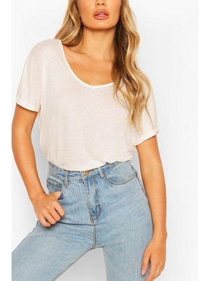 Boohoo Oversized Scoop Neck Rib T-Shirt