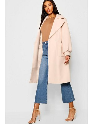 Boohoo Oversized Sleeve Wool Look Coat