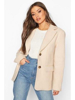 Boohoo Oversized Wool Look Blazer