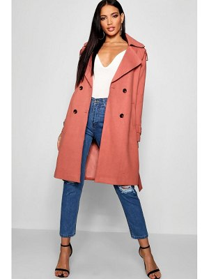 Boohoo Oversized Wool Look Textured Coat