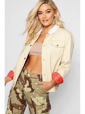 Boohoo Padded Oversize Coloured Denim Jacket