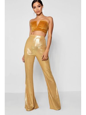 Boohoo Metallic High Shine Flares