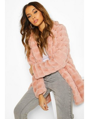 Boohoo Panelled Faux Fur Coat