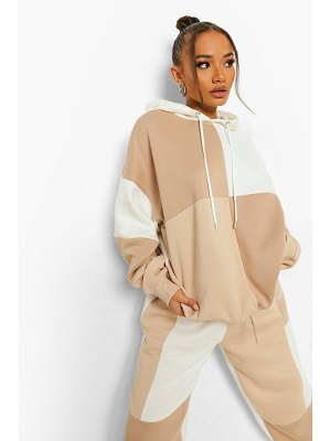 Boohoo Patchwork Tonal Colour Block Tracksuit