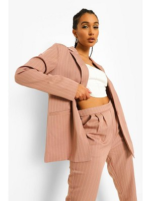 Boohoo Pinstripe Oversized Tailored Dad Blazer