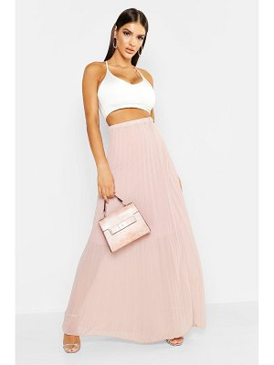 Boohoo Pleated Chiffon Maxi Skirt