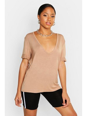 Boohoo Plunge Front T-Shirt