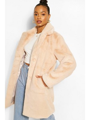 Boohoo Plush Faux Fur Coat