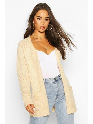 Boohoo Pocket Detail Edge To Edge Cardigan