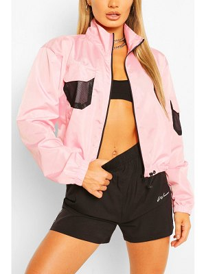 Boohoo Pocket Detail Shell Windbreaker Jacket
